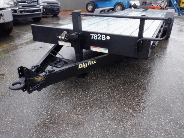 2016 Big Tex 14ET 19 Foot Tandem Axle Flat Deck Trailer