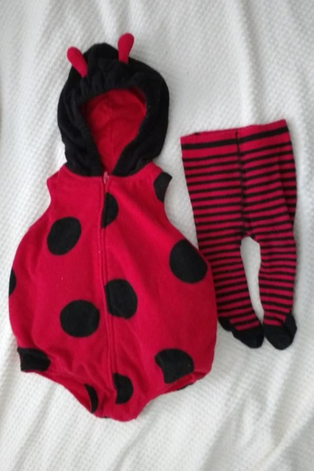 12M Carter's Ladybug costume set