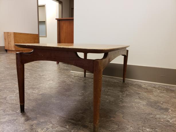 Mid Century Elm Wood Coffee Table