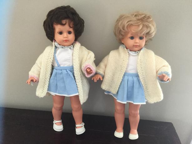 Vintage Schildkrot Celluloid Doll - x2
