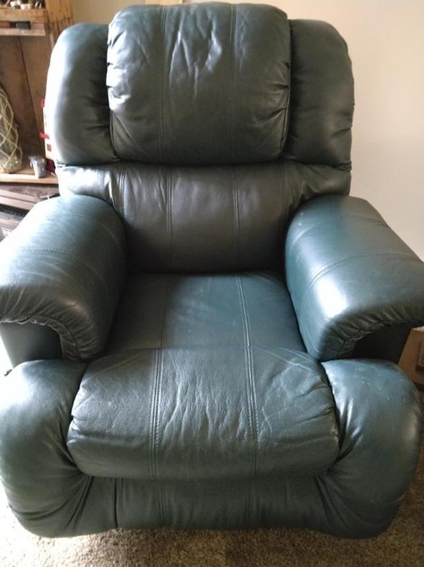 Green recliner