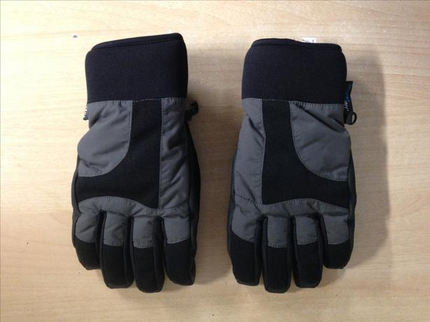 Winter Gloves and Mitts Men's Size Medium Wind River Hyper Dry Black Grey