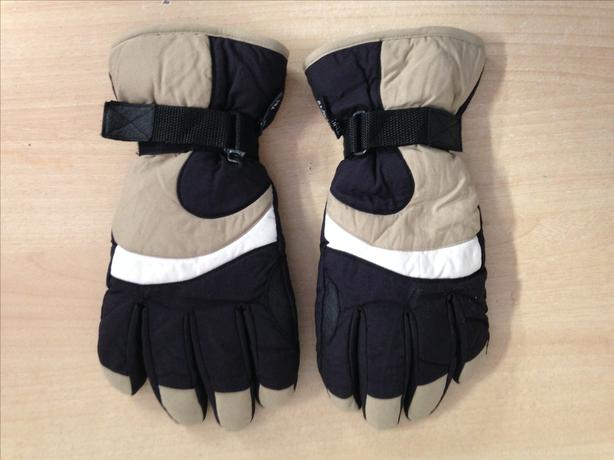 Winter Gloves and Mitts Men's Size Medium Young Tec Grey Tan Black