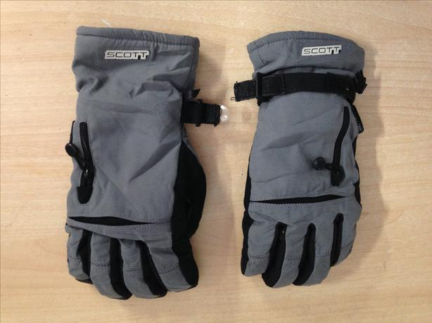 Winter Gloves and Mitts Men's Size Small Scott Waterproof Grey Black