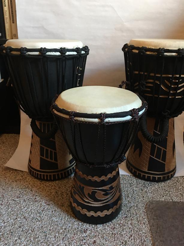 Three hand drums / Djembe