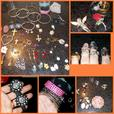 Huge lot of Jewelry, brooches,rings,earrings