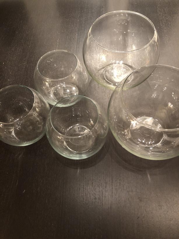 Glass Bubble Ball Bowls Set (Fish Bowls)
