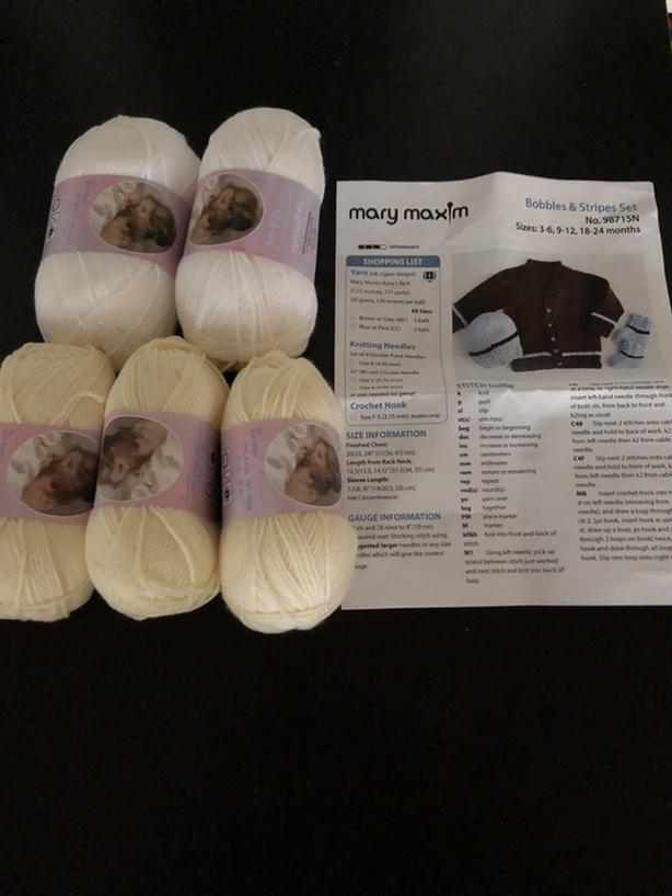 Yarn / pattern for infant's winter clothes - Mary Maxim