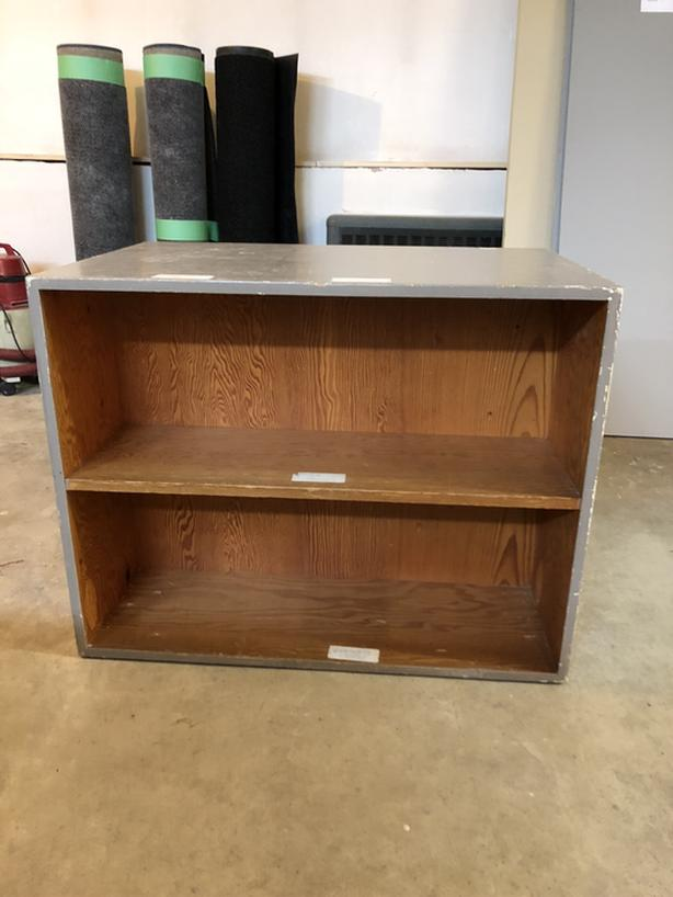 Shelving unit double sided library - solid wood