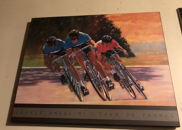 Tour De France Print Plaque mounted