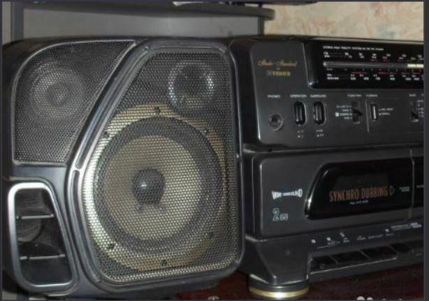 Surround sound (Fisher PH-W3000) boombox