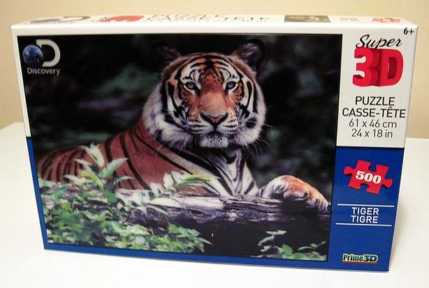 Discovery Super 3D 500 piece Tiger Jigsaw Puzzle