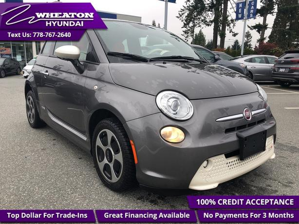2013 Fiat 500 Heated Leather, Sunroof, Bluetooth, Alloy Rims -