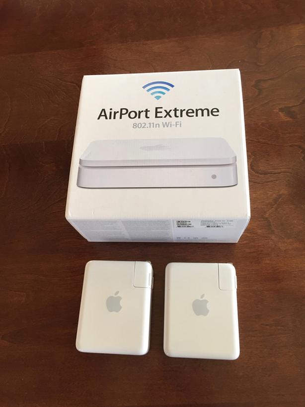 full Mac networking setup - 1 AirPort Extreme and 2 AirPort Expresses