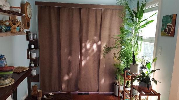 Track Panel blinds for patio door