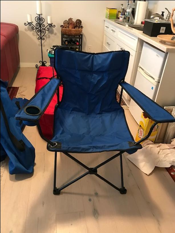 Folding arm chairs