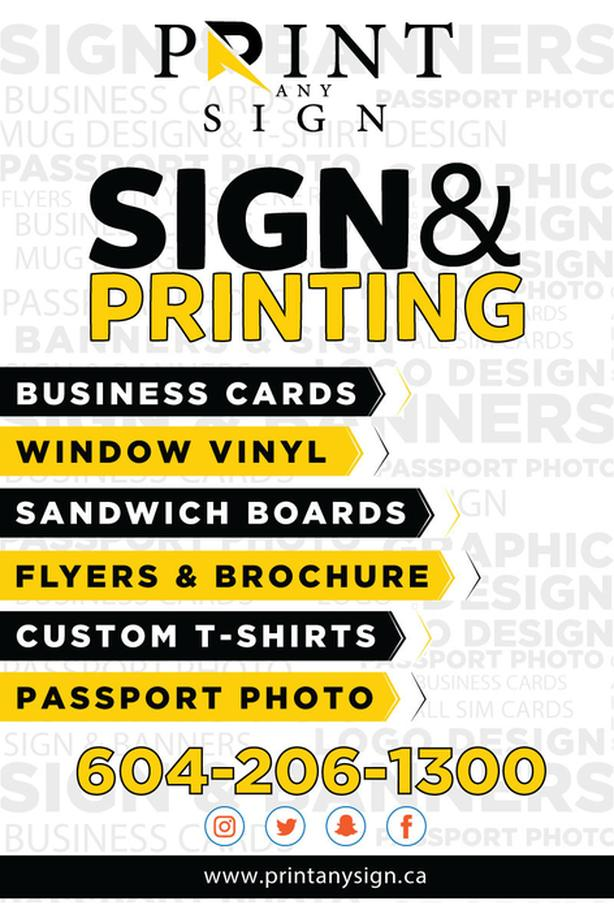 Print Any Sign services