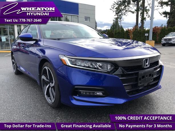 2018 Honda Accord Sedan Sport CVT - Sunroof - Heated Seats - $124.05 /Wk