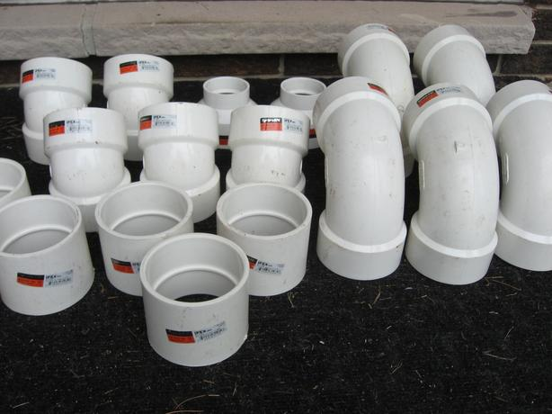 Gas vent pipe fittings 636 IPEX PVC 3 in.