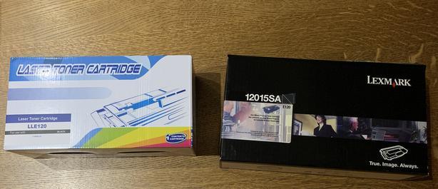 2 Laser Toner Cartridges (LLE120 and E120)