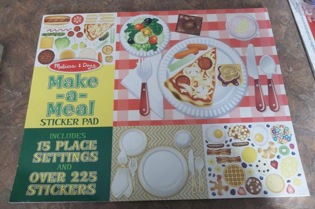 Each! 2 Placemats books make a meal stickers and Scribbles and nibbles