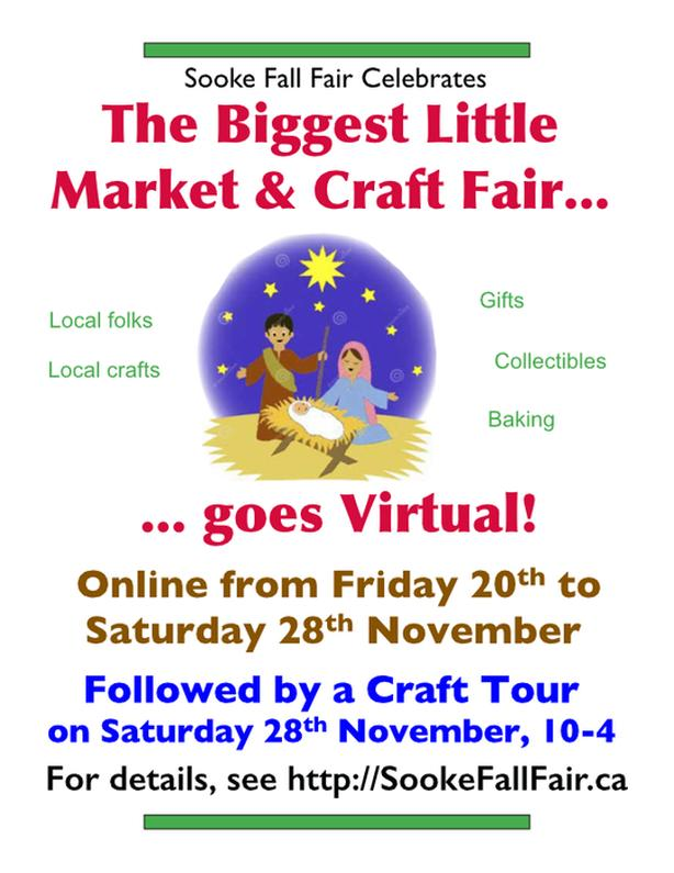"Sooke Fall Fair ""Biggest Little 'Virtual' Craft Fair & Tour"""