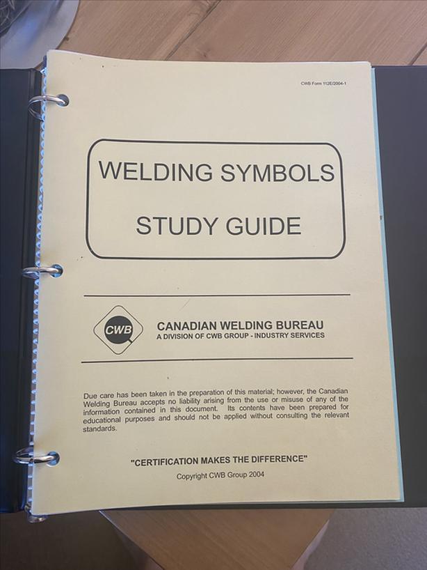 CWB welding supervisor study books