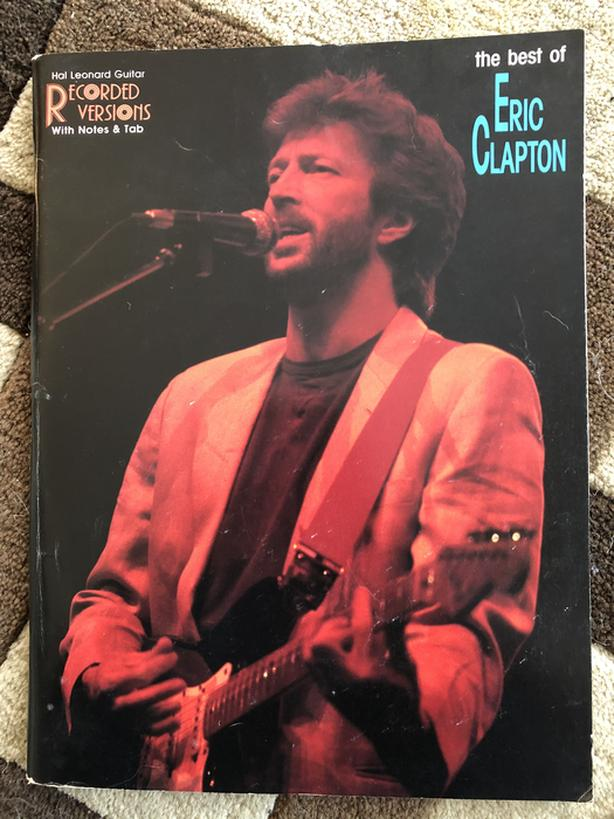 Eric Clapton music book and sheet music
