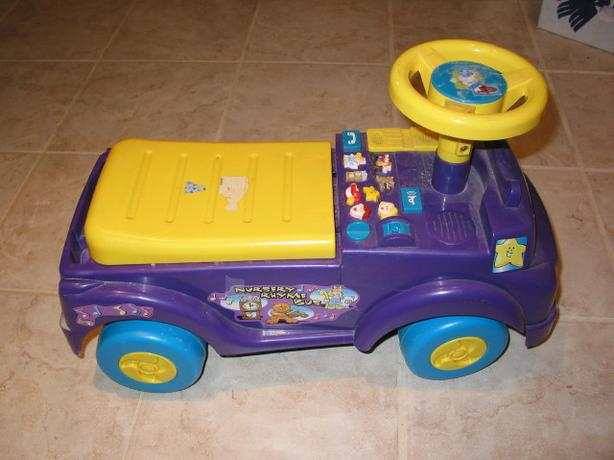 Toddler ride on toy plays nursery rhymes
