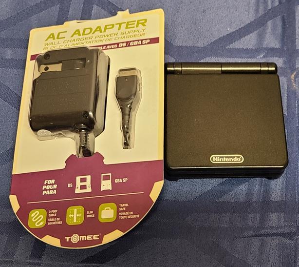 Black Gameboy Advance SP Console