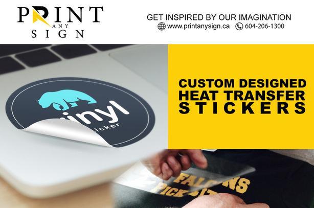 Custom design Heat transfer Stickers Printing