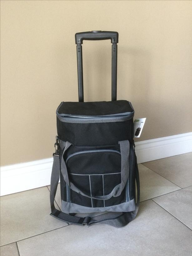 6-bottle rolling wine suitcase