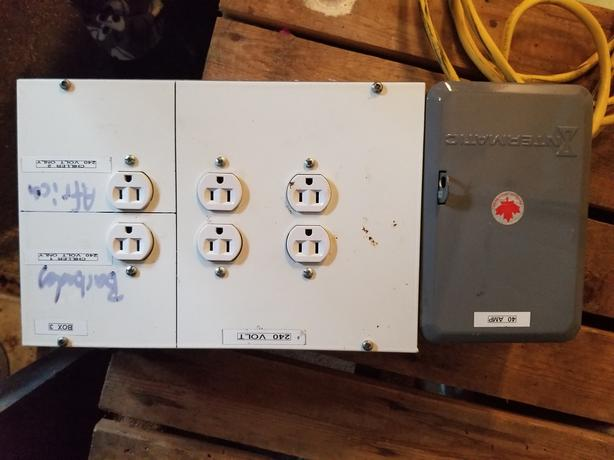 6 way 240 volt board and timer