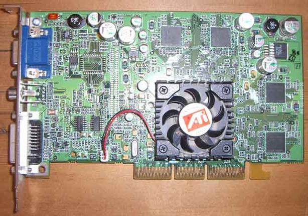 ATI Radeon AGP video card