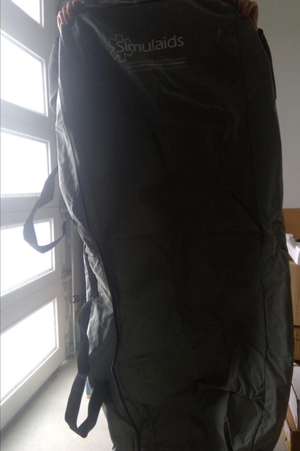 Large canvas bag with handles