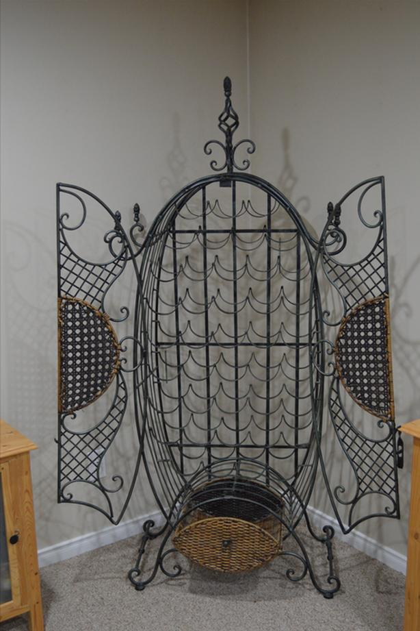 Iron wine rack (cage)