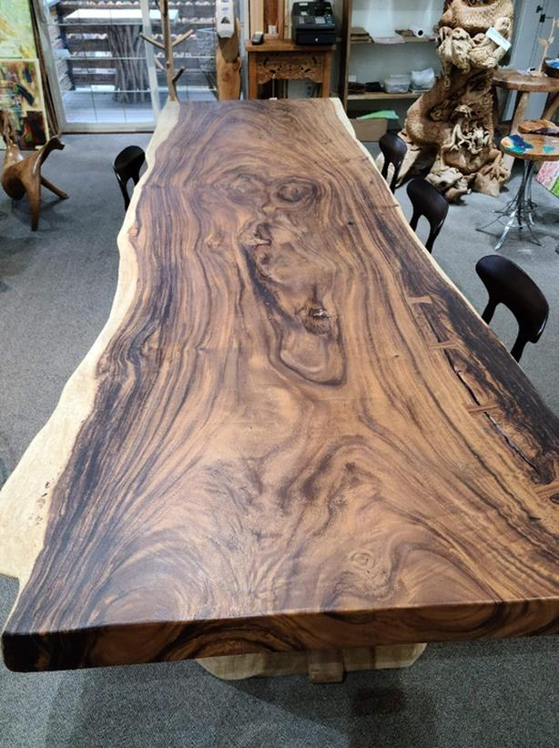 Gorgeous Exotic Live Edge Monkey Pod Tables