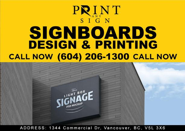 Sign Board design and printing