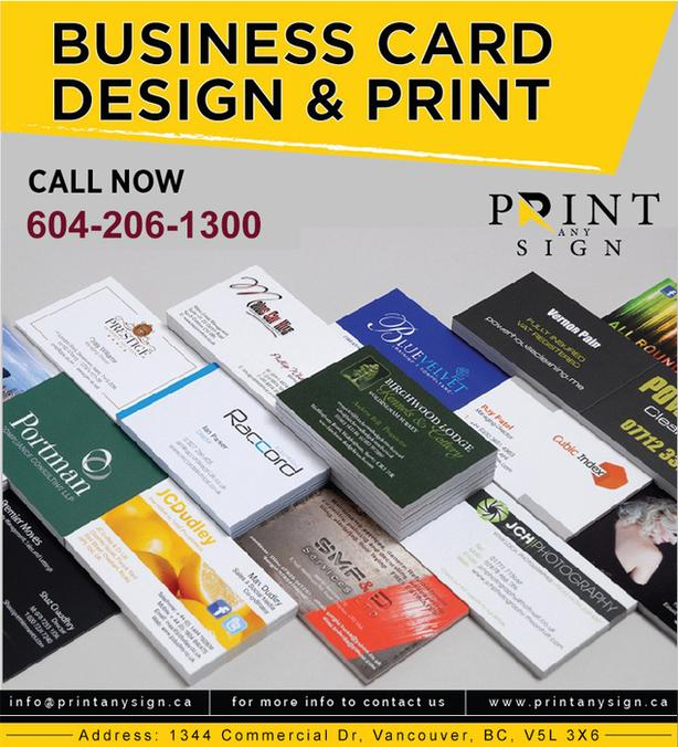 Business Card Printing and Designing