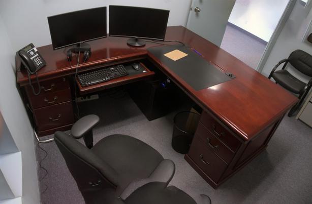 Executive Mahogany Office Desk