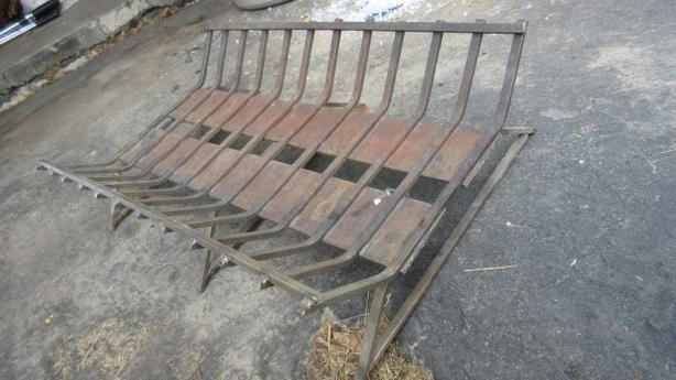 Custom heavy duty fireplace grate