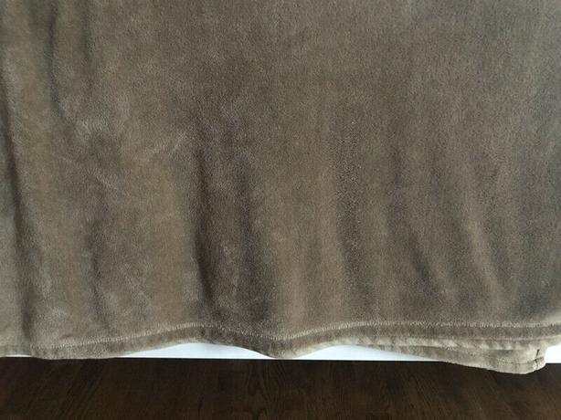 Calvin Klein King Size Plush Blanket  - Tan Colour