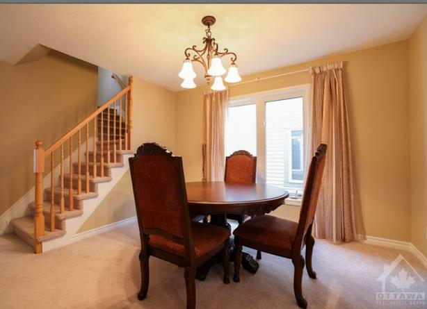 Dining room set with matching console
