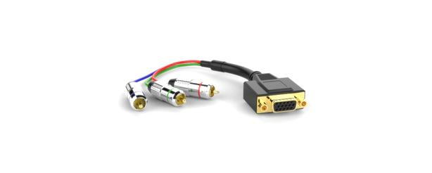 VGA to male component video white sz10