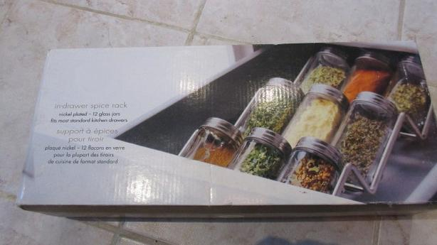 Glass/Nickel In-drawer spice rack