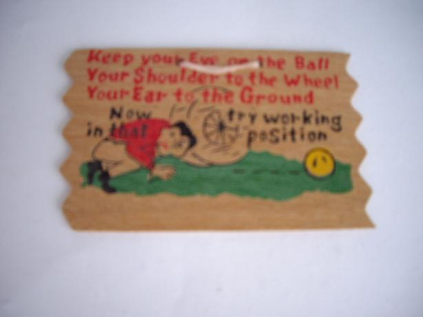 WOOD POST CARD ANTIQUE