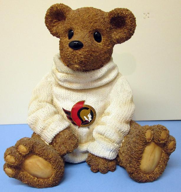 OTTAWA SENATORS CERAMIC TEDDY BEAR