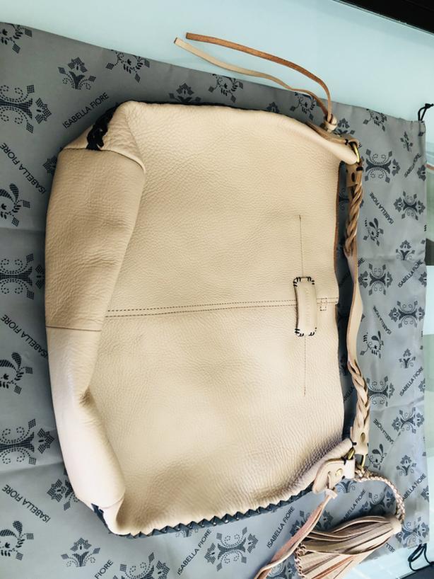 Isabella Fiore Beige Hobo handbag