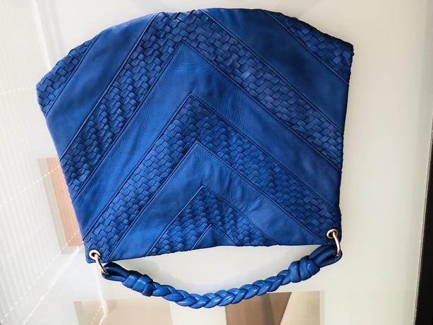 Christopher Kon Blue Hobo Handbag