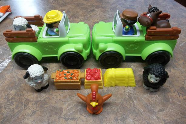 F.P. little people cars/trucks/train with drivers .(see other ads for more)